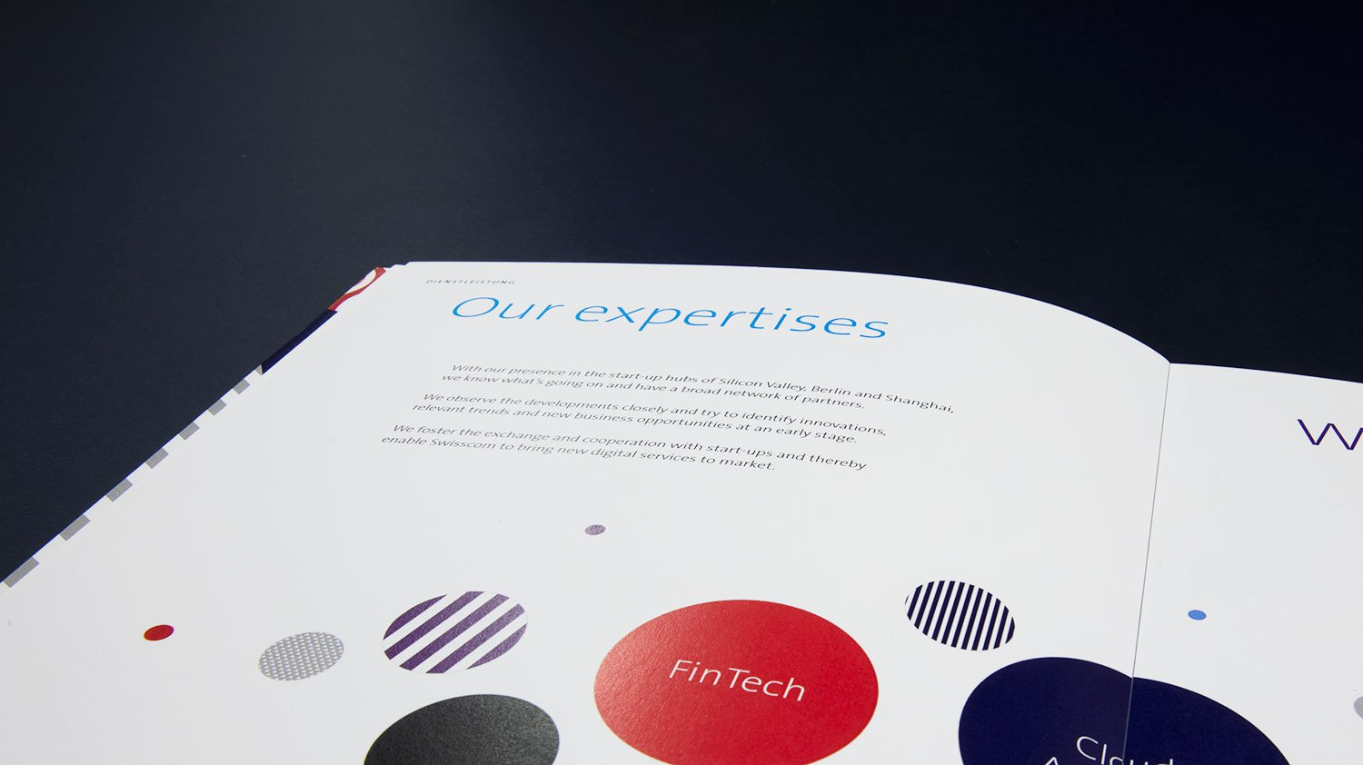 Swisscom outpost infographic design